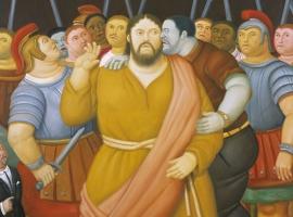 Fernando Botero - Via Crucis - El beso de Judas