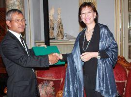 Cerimonia di presentazione all'Ambasciata Indonesiana