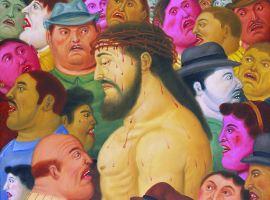 Fernando Botero - Via Crucis - Jesus y la Multitud