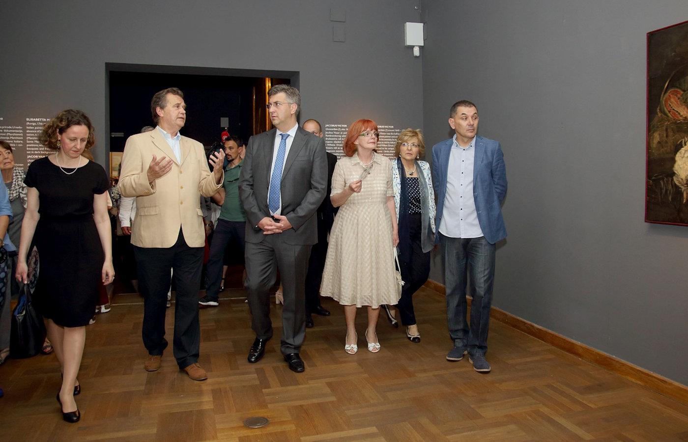 Minister of Culture Nina Obuljen Koržinek, Prime Minister Andrej Plenković