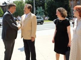 Prime Minister Andrej Plenković, Miroslav Gašparović, Minister of Culture Nina Obuljen Koržinek